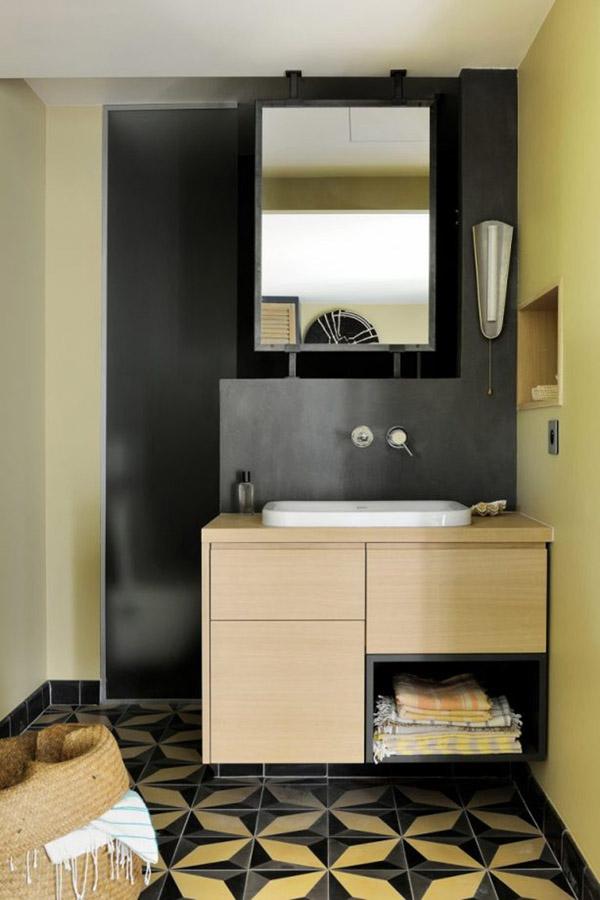 встроенная мебель для маленькой ванной комнаты