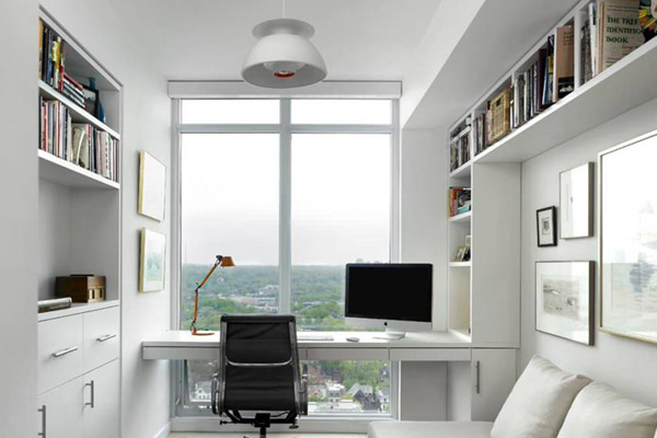Встроенная мебель в кабинете