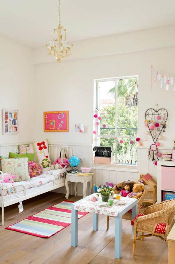 Мебель из икеа в комнате для девочки 7 лет