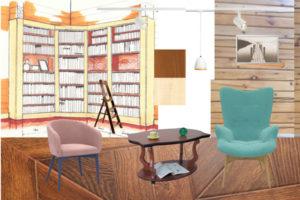 Дизайн интерьера библиотеки 2