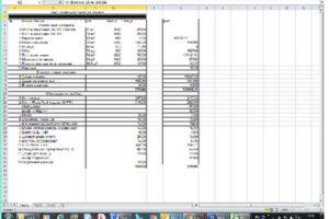 Общая смета на ремонт квартиры в виде электронной таблицы