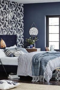акцентная стена спальни в современном стиле
