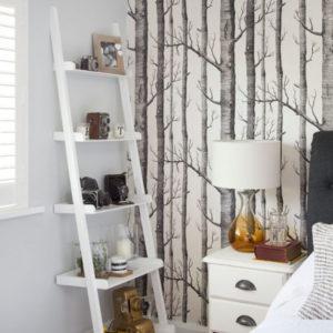 декоративное панно на акцентной стене в спальне