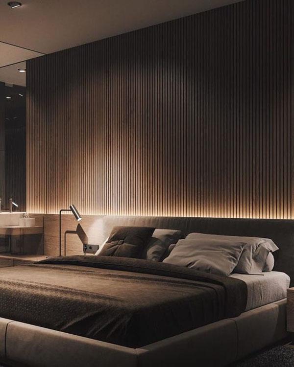 декоративная подсветка спальни в современном стиле