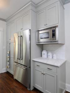 Классический серый кухонный фасад