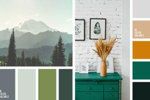 сочетание серого с зеленым цветом