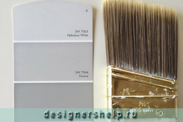 серый цвет стен на кухне
