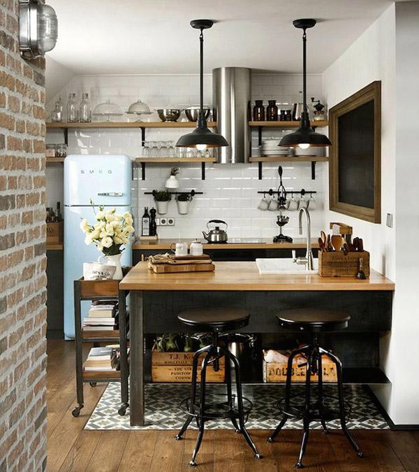кухня в стиле городского ретро