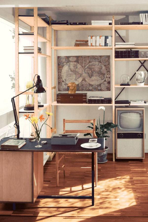 Интерьер офиса в ретро стиле