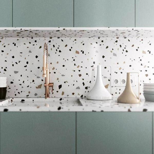 кухонная столешница из плиты тераццо