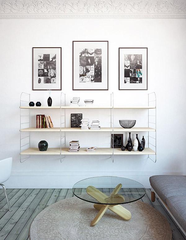 гостиная в маленькой квартире с элементами лофт дизайна