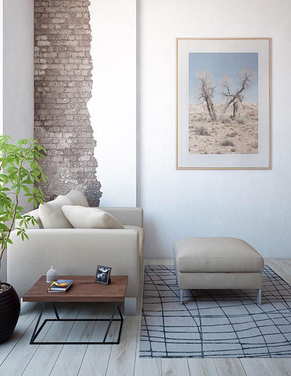 диван для маленькой квартиры с элементами лофт дизайна