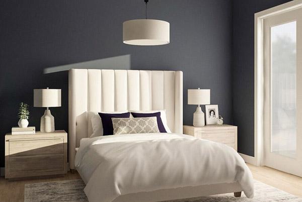 мягкое и прочное изголовье кровати в спальне по фен шуй