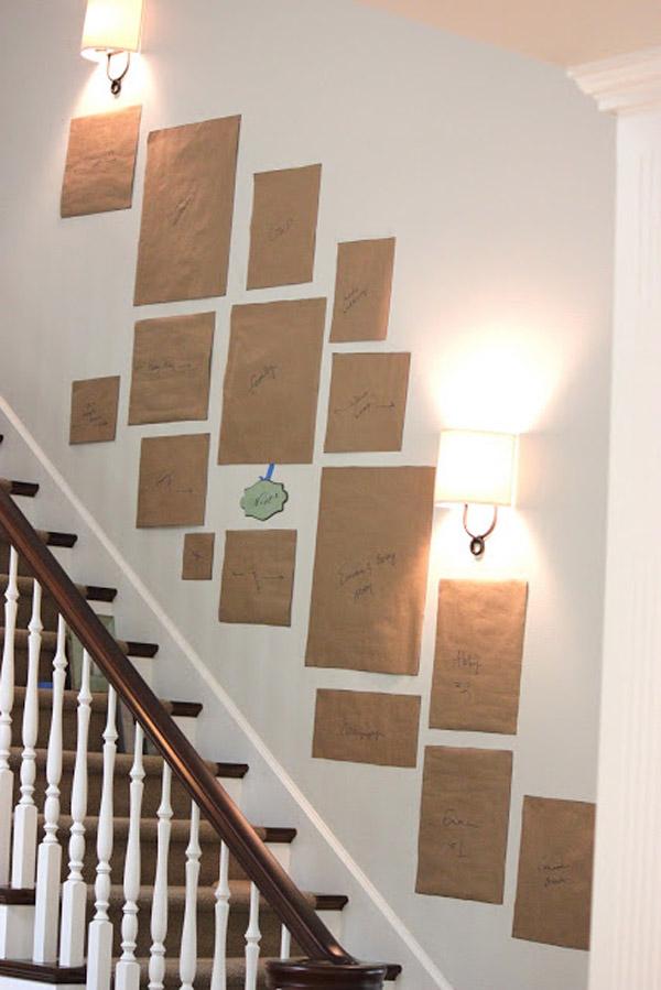 макеты фотографий на лестнице