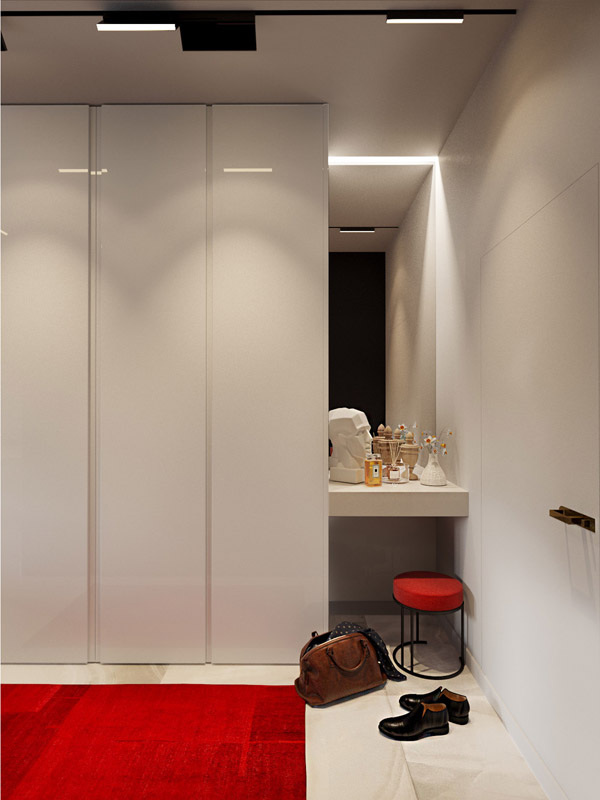 встроенные шкафы белого цвета