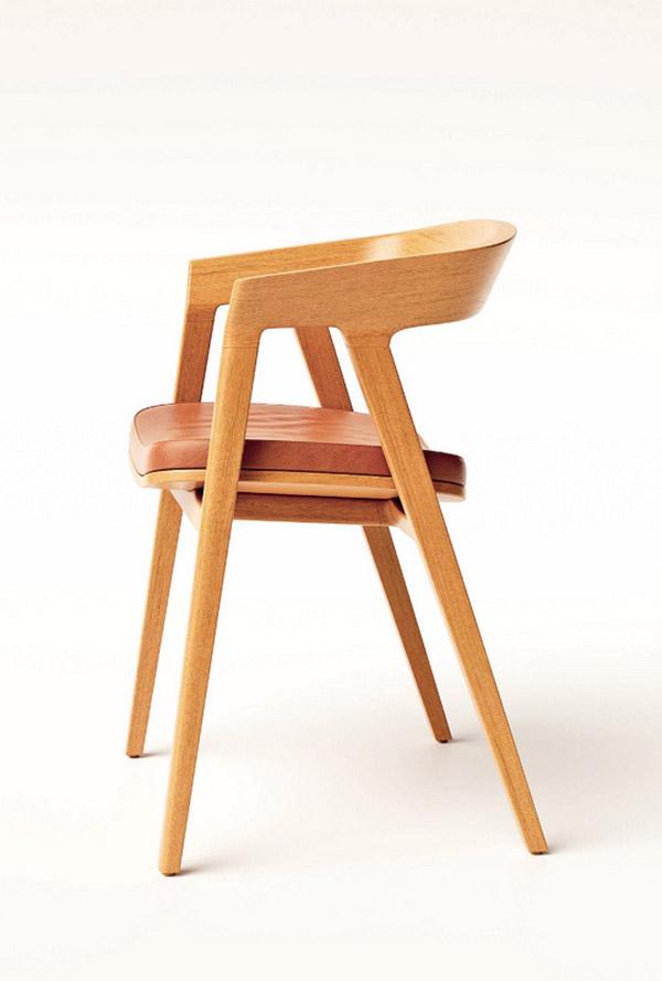 деревянный дизайнерский рабочий стул