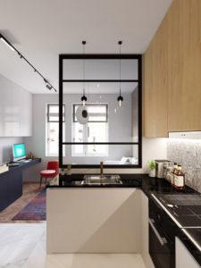 3d модель квартиры сткудии 2