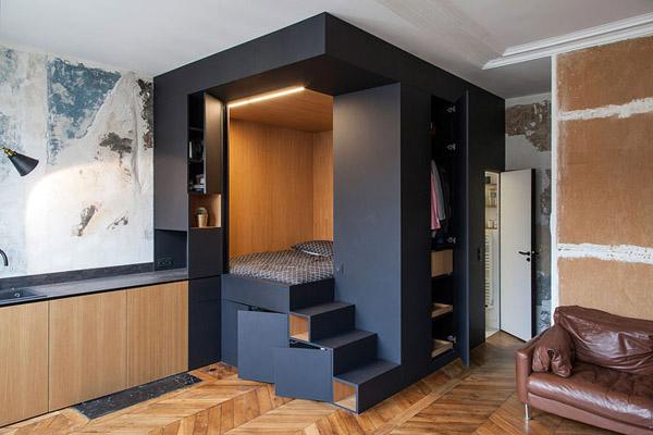 спальное место с системой хранения