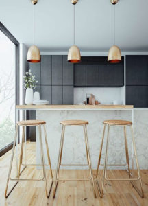 металлические детали в интерьере кухни