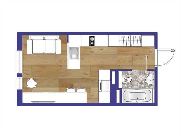 планировка квартиры студии 2