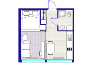 планировка квартиры студии 3