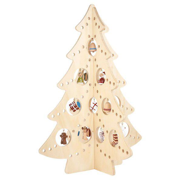 декоративная новогодняя елка из фанеры
