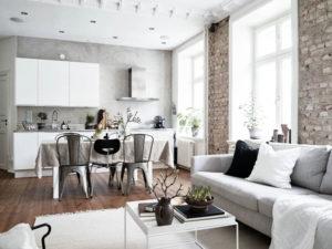 интерьер куъхни гостиной в стиле минимализм