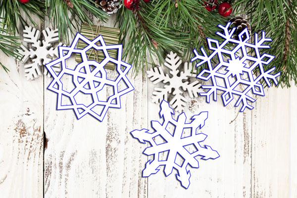 примеры простых снежинок из бумаги