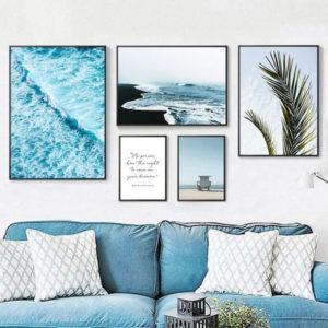 как украсить стену над диваном