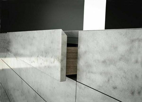 кухонные фасады из акрилового камня