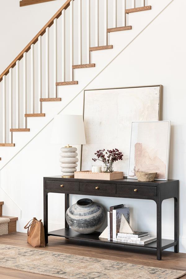 винтажный декор лестницы