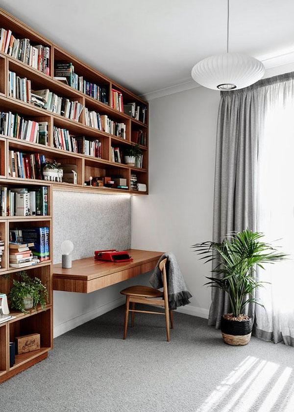 винтажная домашняя библиотека