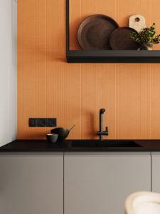 дизайн акцентной стены на кухне