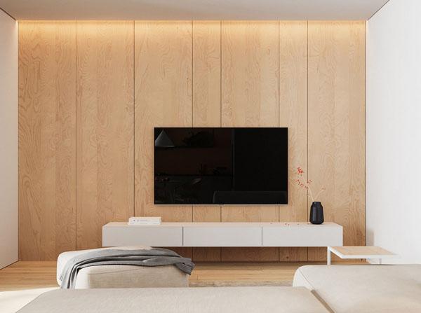 стена с деревянными панелями