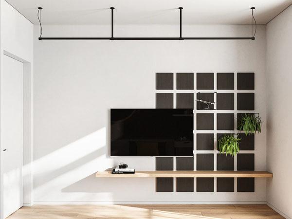 стена с телевизором в детской