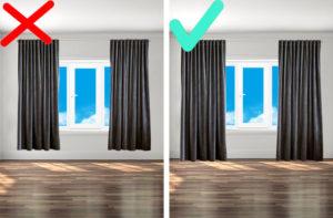 правильная длина штор