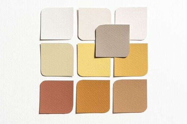 цветовая палитра на основе желтого