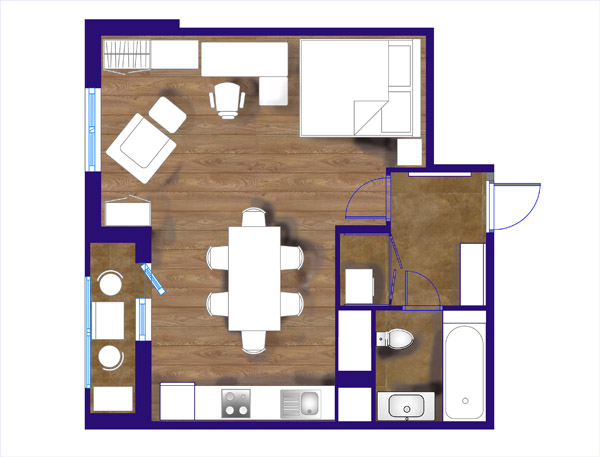 чкртеж планировки квартиры
