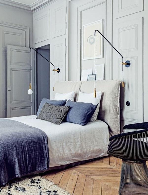 светильники в интерьере парижской квартиры
