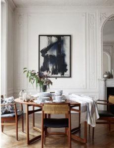 столовая в парижской квартире