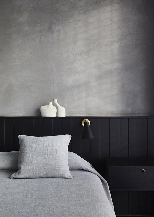изголовье кровати в стиле минимализм