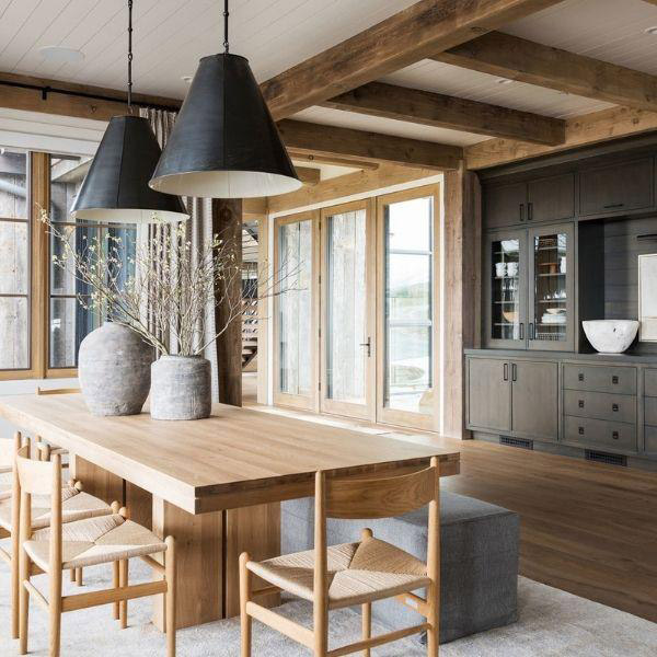 мебель разного цвета на кухне