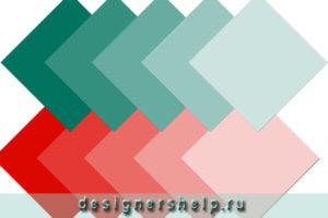 сочетание цвета стен в интерьере
